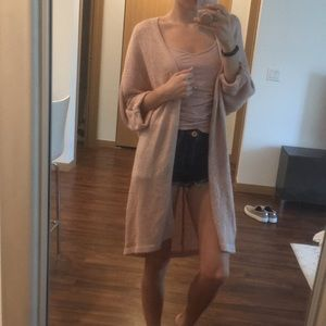Pink knit cardigan - forever 21